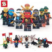 Нинзя, Ninja Minifigures, Нинзяго минифигурки совместимые с оригинальным конструктором Lego.
