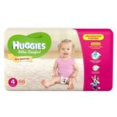 Подгузники Huggies Ultra Comfort 4 (8-14 кг) Mega для девочек 66 шт.