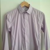 Стильная рубашка рост 182 см/38, нежно-фиолетового цвета