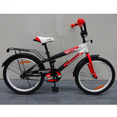 Детский двухколесный велосипед 14 дюймов Profi Inspirer G1455, черно-бело-красный