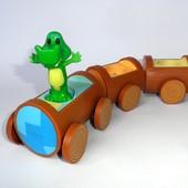 Музыкальный поезд Tomy паровозик вагоны крокодил