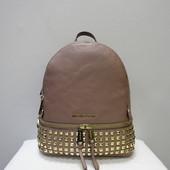 Кожаный рюкзак с заклёпками Michael Kors dusty rose оригинал