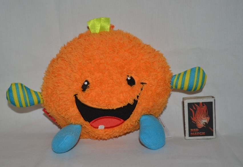 Fisher-price фирменный апельсин колобок с озвучкой подвеска хохочет фото №1