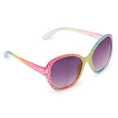 Girls Rainbow Leopard Print Oversized Sunglasses 4-7 и 8-14 лет