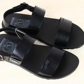 Мужские сандалии кожаные черные