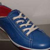 Кроссовки мужские ЕССО ярко-синие из натуральной кожи, размер - 41