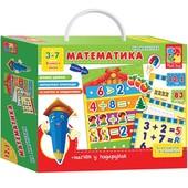 Математика с магнитной доской на укр и русск влади тойс Vladi Toys VT1502-05