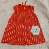 Милое детское платье, 9-12 месяцев, новое