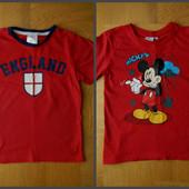 110-116 см Disney как новая фирменная футболка хлопок. Длина - 47 см, ширина - 34 см. Без деф