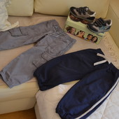Летние брючки Chicco и спортивные брюки Mothercare 98 размера.