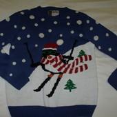 Потрясающий новогодний свитер cedarwood  р.м