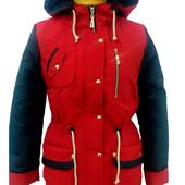 Распродажа. Куртка демисезонная парка на девочку. Разные цвета. Р-Ры 36-42