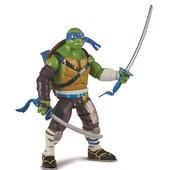 Фигурка серии черепашки-ниндзя со звуком Movie II Deluxe - Леонардо (боевые удары катаны, 15 см)