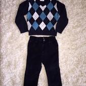 Стильный комплект штаны M&Co + свитерок Early Days на 12-24 мес.