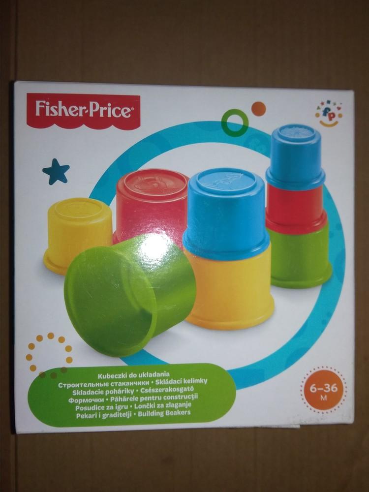 Развивающие стаканчики от fisher price пирамидка формочки пасочки фото №1