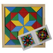 Мозаика-геометрика, 4 вида фигур, Komarovtoys А 346