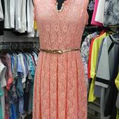 Новое ажурное платье M-L