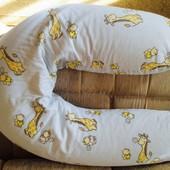 Подушка для беременных и кормления с наволочкой ТМ Лежебока Классик