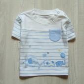 Стильная футболка для модника. George. Размер 0-3 месяца. Состояние: новой вещи