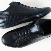 Спортивные туфли ECCO черные кожаные