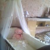 Продам кроватку+матрас+набор постельного