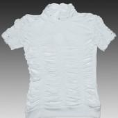 Белый гольф для школьниц,рост 128-162 см(8-14 лет)
