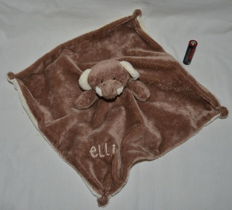 Нежный слоник слон впитывающий платочек полотеничко с развивалками кукольный теат фото №1