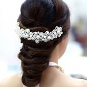 Диадема для волос свадебная, для выпускных вечеров