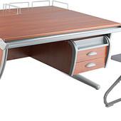 Для школьника - парта  + стул + тумба навесная и 2 полки задних, Дэми, яблоня серый (Д-20031129)