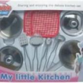 Кухонный набор жестяной 10 предметов от Tin kitchen tea set