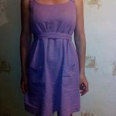 Льняной сарафан, платье для беременной. Состояние идеальное!