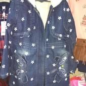 Куртка - парка джинсовая