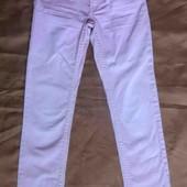 H&M розовые узкие джинсы на девочку 9-10 лет 134-140