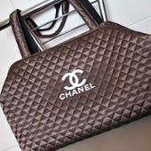 Модная стеганая сумка Шанель из плащевки