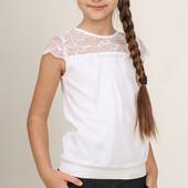 Mevis, Блуза для девочки 1965 белая, Школьная форма