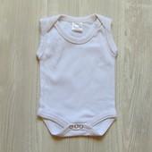 Белоснежный бодик-майка для новорожденного. Baby-dump. Размер 0-1 месяц. Состояние: новой вещи
