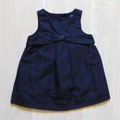 Стильный джинсовый сарафанчик для маленькой леди. Внутри на котоновой подкладке. GAP. Размер 3-6 мес