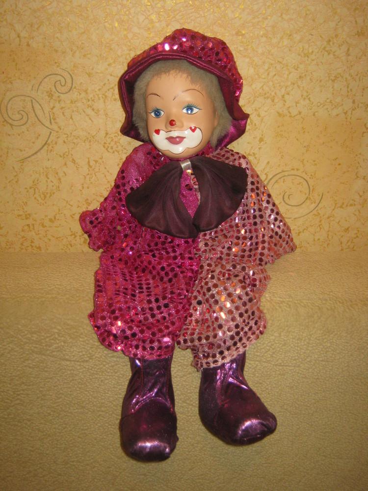 Фарфоровый клоун 43 см фото №1