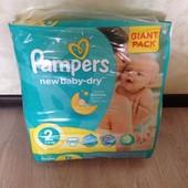 Подгузники Памперс нью беби 2 - 100 шт. Pampers new baby-dry Лучшая цена