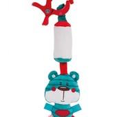 """Подвесная игрушка плюшевая с колокольчиком """"Лесные друзья"""" 68/043"""