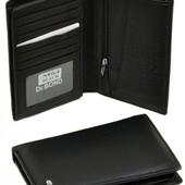 Мужской кожаный кошелек портмоне визитница dr.Bond натуральная кожа