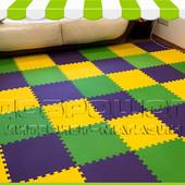 Мягкое модульное напольное покрытие для детской комнаты, коврик-пазл. 12 элементов, 2.7 м.кв.