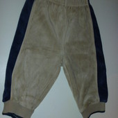 спортивные велюровые штаны 6-12 мес