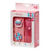 Подарочный набор Dr. Brown's™ Natural Flow® (бутылочка, пустышка, карабин) розовый (Wb913)