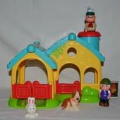 Фирменная ферма домик гараж для фигурок человечков Happy land от ELC mothercare мазекеа