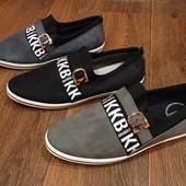 Мокасины Туфли Кеды Мужские 40-45 размеры 3 цвета Tm «Bikke»