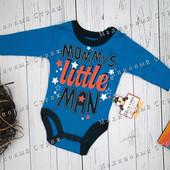 Синий бодик на мальчика, 56 68 размер, синий, длинный рукав, боди, 1 6 9 месяцев, Турция