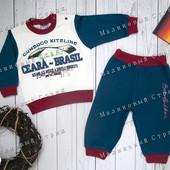 Спортивный костюм на мальчика, 80 размер, штаны реглан кофта свитер, 12 месяцев