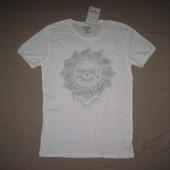 Новая Zara Man (S) футболка мужская натуральная