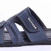 Шлепанцы мужские кожаные Tommy Hilfiger